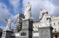 Київ. Пам'ятник княгині Ользі Кирилу і Мефодію та Андрію Первозваному